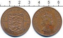 Изображение Монеты Остров Джерси 1/12 шиллинга 1966 Бронза XF гербовый щит с тремя