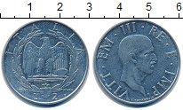 Изображение Монеты Италия 2 лиры 1940 Никель XF
