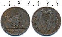 Изображение Монеты Ирландия 1 пенни 1935 Бронза XF курица с цыплятами -
