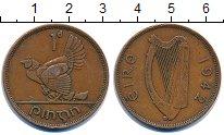 Изображение Монеты Ирландия 1 пенни 1942 Бронза XF