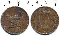 Изображение Монеты Ирландия 1 пенни 1928 Бронза XF курица с цыплятами -