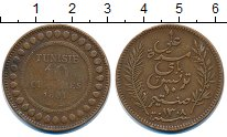 Изображение Монеты Тунис 10 сентим 1891 Бронза XF