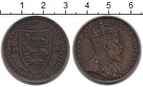 Изображение Монеты Остров Джерси 1/12 шиллинга 1909 Бронза XF Эдуард VII.