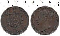 Изображение Монеты Остров Джерси 1/13 шиллинга 1851 Медь XF