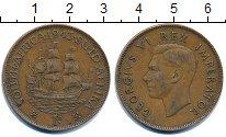 Изображение Монеты ЮАР 1 пенни 1943 Бронза VF