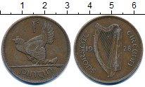 Изображение Монеты Ирландия 1 пенни 1928 Бронза VF Курица  с  цыплятами