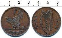 Изображение Монеты Ирландия 1 пенни 1948 Бронза XF
