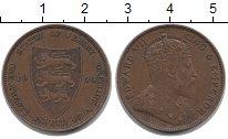 Изображение Монеты Остров Джерси 1/24 шиллинга 1909 Бронза XF Эдуард VII.