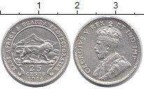 Изображение Монеты Восточная Африка 25 центов 1914 Серебро XF