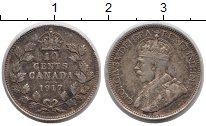 Изображение Монеты Канада 10 центов 1917 Серебро VF