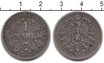 Изображение Монеты Германия 1 марка 1875 Серебро XF G