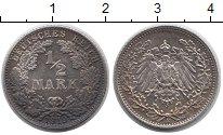 Изображение Монеты Германия 1/2 марки 1919 Серебро XF