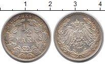 Изображение Монеты Германия 1/2 марки 1918 Серебро XF Е