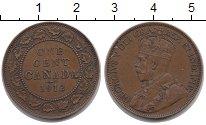 Изображение Монеты Канада 1 цент 1912 Бронза XF Георг V