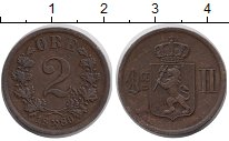Изображение Монеты Норвегия 2 эре 1889 Бронза XF Оскар II.