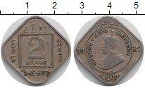 Изображение Монеты Индия 2 анны 1935 Медно-никель XF