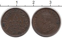 Изображение Монеты Индия 1/12 анны 1917 Бронза XF