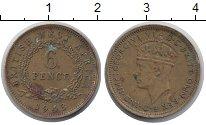 Изображение Монеты Западная Африка 6 пенсов 1943 Латунь XF