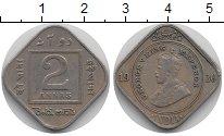 Изображение Монеты Индия 2 анны 1930 Медно-никель XF