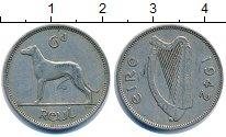 Изображение Монеты Ирландия 6 пенсов 1942 Медно-никель XF