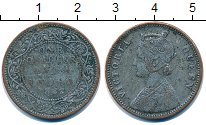 Изображение Монеты Индия 1/4 анны 1862 Медь F