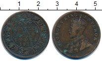 Изображение Монеты Индия 1/4 анны 1918 Бронза VF