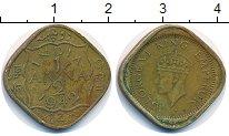 Изображение Монеты Индия 1/2 анны 1942 Латунь VF