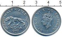 Изображение Монеты Индия 1/2 рупии 1947 Медно-никель VF
