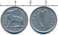 Изображение Монеты Ирландия 3 пенса 1943 Медно-никель VF