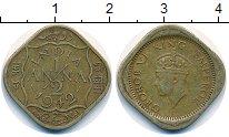Изображение Монеты Индия 1/2 анны 1942 Латунь XF