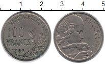 Изображение Монеты Франция 100 франков 1955 Медно-никель XF Свобода.  Равенство.