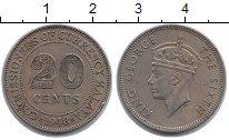 Изображение Монеты Малайя 20 центов 1948 Медно-никель XF Георг VI.