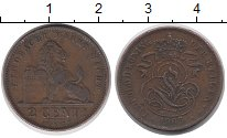 Изображение Монеты Бельгия 2 сантима 1905 Бронза XF