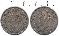 Изображение Монеты Малайя 20 центов 1950 Медно-никель XF