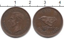 Изображение Монеты Великобритания 1 фартинг 1938 Бронза VF