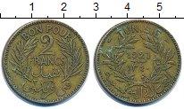 Изображение Монеты Тунис 2 франка 1921 Латунь XF