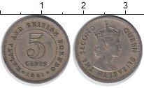 Изображение Монеты Борнео 5 центов 1961 Медно-никель XF