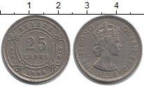 Изображение Монеты Белиз 25 центов 1994 Медно-никель XF