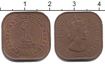 Изображение Монеты Борнео 1 цент 1961 Бронза XF