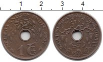 Изображение Монеты Нидерландская Индия 1 цент 1937 Бронза XF