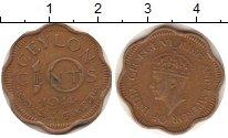 Изображение Монеты Цейлон 10 центов 1944 Бронза XF