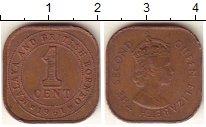 Изображение Монеты Малайя 1 цент 1961 Бронза XF
