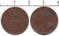 Изображение Монеты Канада 1 цент 1928 Бронза XF