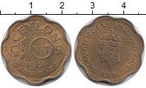 Изображение Монеты Цейлон 10 центов 1944 Латунь XF