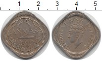 Изображение Монеты Индия 2 анны 1941 Медно-никель XF
