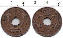 Изображение Монеты Восточная Африка 5 центов 1941 Бронза VF Георг VI.