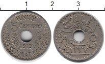Изображение Монеты Тунис 5 сентим 1919 Медно-никель XF