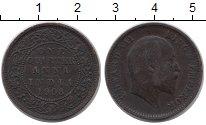 Изображение Монеты Индия 1/4 анны 1908 Бронза XF