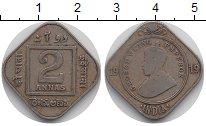 Изображение Монеты Индия 2 анны 1919 Медно-никель VF