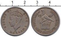Изображение Монеты Родезия 1 шиллинг 1947 Медно-никель XF Георг VI.